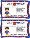 Positive Parent Contact - Super Heros