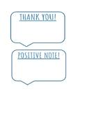 Positive Parent Mail/Thank You Notes/Positive Notes