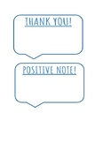 Positive Parent Mail/Thank You Notes/Positive Notes