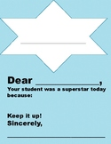 Positive Parent Note Template