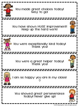 Positive Parent Notes Black and White and Full Color Options Editable
