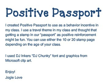 Positive Passport