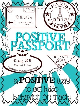 The Positive Passport - Behavior Log