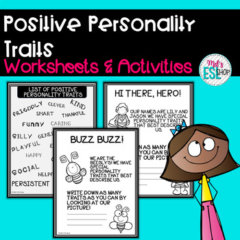 ESL Positive Personality Traits- Worksheets & Activities