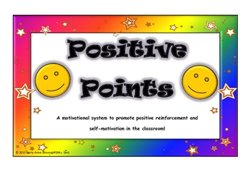 """""""Positive Points"""" motivation and rewards system- It really works!"""