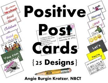 Positive Post Cards {SCHOOL/ PTSA License}