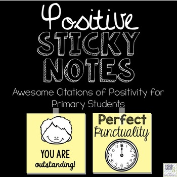 Positive Sticky Notes Awesome Citations Pack