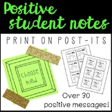 Positive Post-it Note Messages
