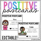 Positive Postcards {EDITABLE!}