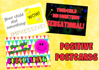 Positive Postcards to Send Home to Encourage Your Students.