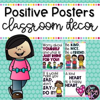 Positive Posters Classroom Decor