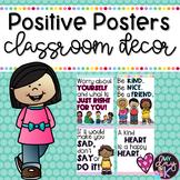 Positive Posters Classroom Decor | Social Distance Options
