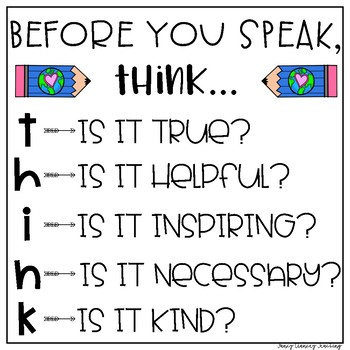 Positive Posters for Behavior Management