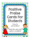 Positive Praise Cards for Students