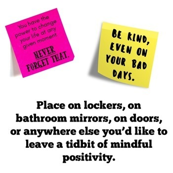 Back to School: Positive, Printable Sticky Note Templates