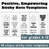 New Year: Positive Growth Mindset Sticky Note Templates