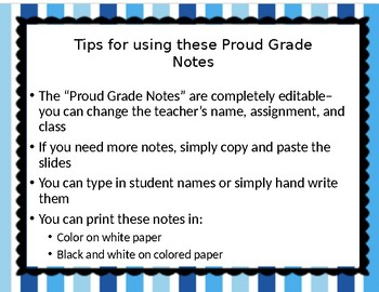 Positive Proud Grade Notes