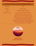 Positive Psychology Meditation Activity
