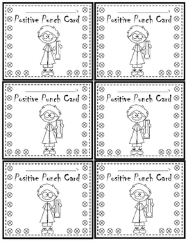 Positive Punch Reward Cards - Perfect for PBIS