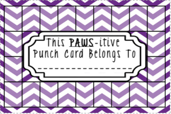 Positive Punch Cards - Puple, Teal, Lime