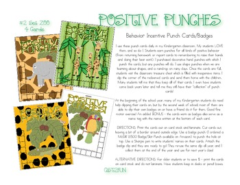 Positive Punches! Zoo Behavior Incentive Punch Cards/Badges