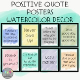 Positive Quote Posters-Watercolor Decor