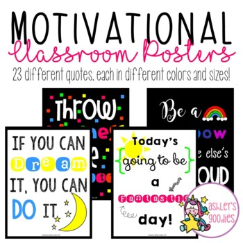 Positive Quotes Classroom Posters
