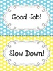 Polka Dot Positive Reinforcement Behavior Chart