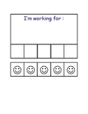 "Positive Reinforcement Card - ""I'm working for : """