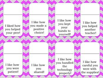 Positive Reinforcement Cards BUNDLE- 32 I Like statements