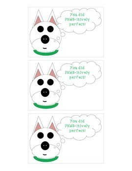 Positive Reinforcement Cards: Dog Theme (PAWS-itively Perfect)