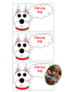 Positive Reinforcement Cards: Dog Theme (You're Top Dog)!