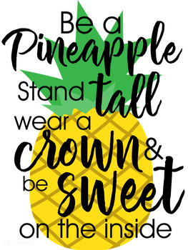 Pineapple Classroom Decor: Classroom Posters
