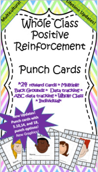 Positive Reinforcement- Punch Card Behavior Intervention.- Lifetime Updates