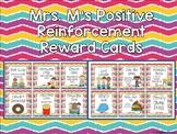 Positive Reinforcement Reward Cards