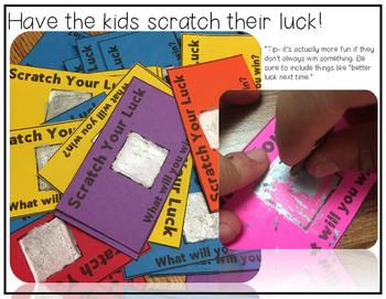 Positive Reinforcement Scratcher Lottery Editable