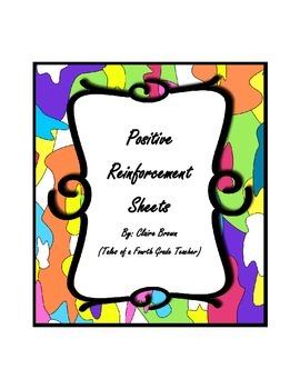 PBIS Positive Reinforcement Sheets