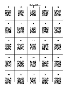 Positive Reinforcement: Smiley Video Links and QR Codes