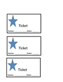 Positive Reinforcement Star Tickets