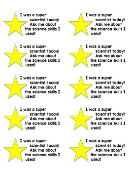 Positive Reinforcement Student Stickers: Science