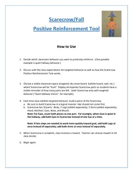 Positive Reinforcement Tool Seasonal Packet: Scarecrow, Snowman, Flower