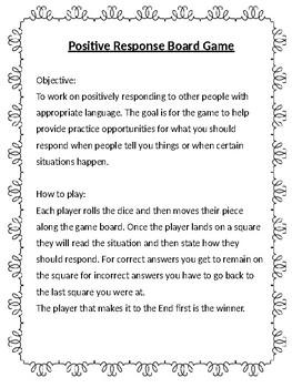 Positive Response Board Game