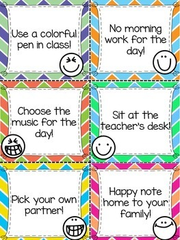 Positive Reward Coupons - A Classroom Management Freebie!