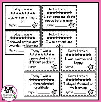 Positive Reward Notes For Parents