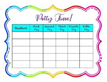 Positive Reward Potty Training Chart