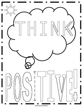 Positive Sayings Coloring Pages