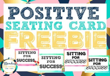 Positive Seating Card Freebie