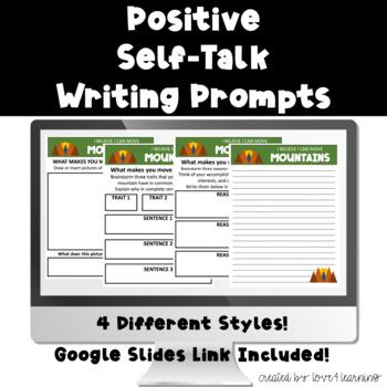 Positive Self-Esteem Motivational Writing Packet
