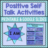 Positive Self Talk Activities For Coping Skills, Self Esteem And Growth Mindset