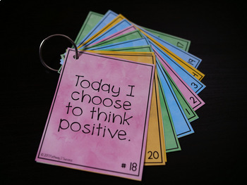 Positive Self-Talk Cards - Digital and Print Bundle